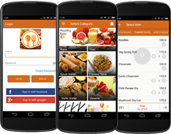online food ordering Login android app