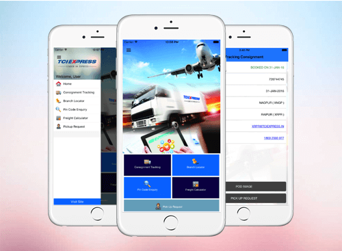 TCI EXPRESS iOS Mobile App